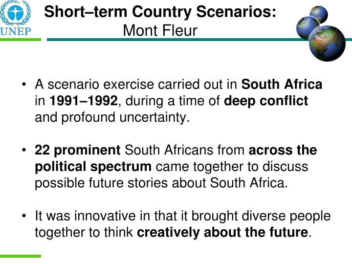 Short–term Country Scenarios: