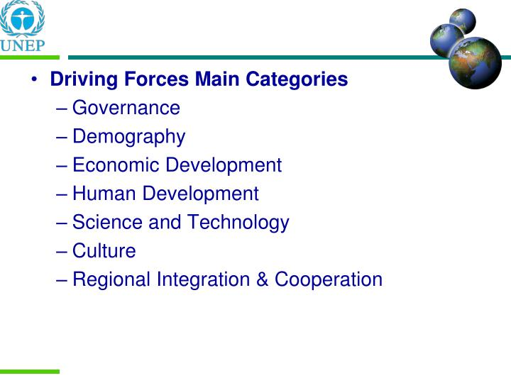 Driving Forces Main Categories