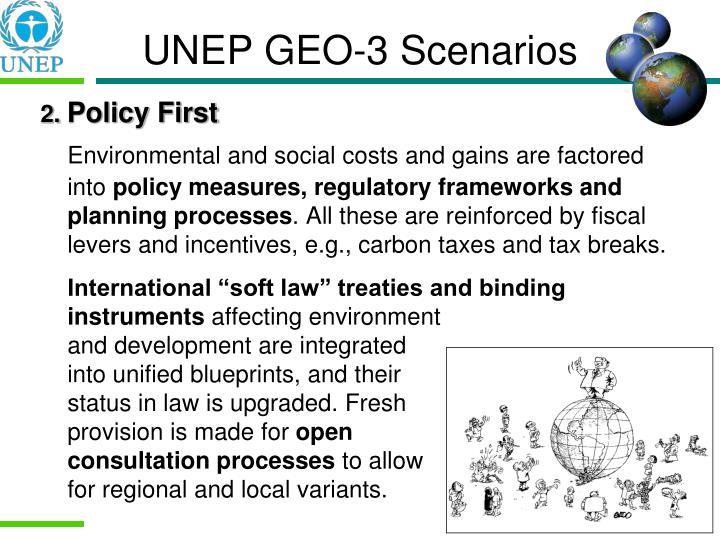 UNEP GEO-3 Scenarios