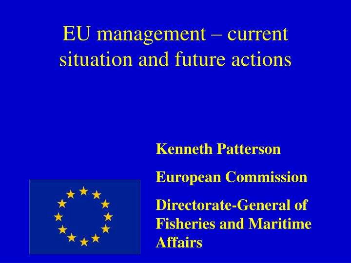 eu management current situation and future actions n.
