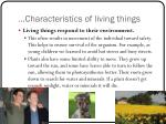 characteristics of living things5