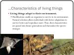 characteristics of living things6