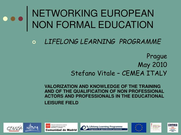 networking european non formal education n.