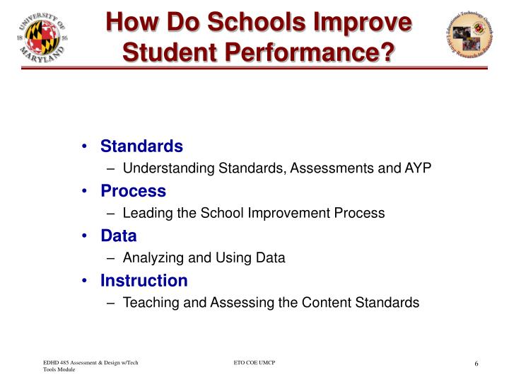 How Do Schools Improve Student Performance?