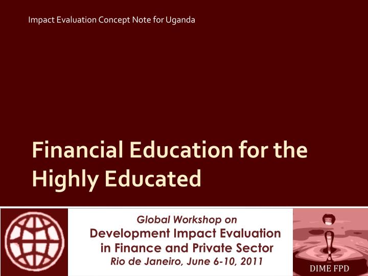 financial education for the highly educated n.