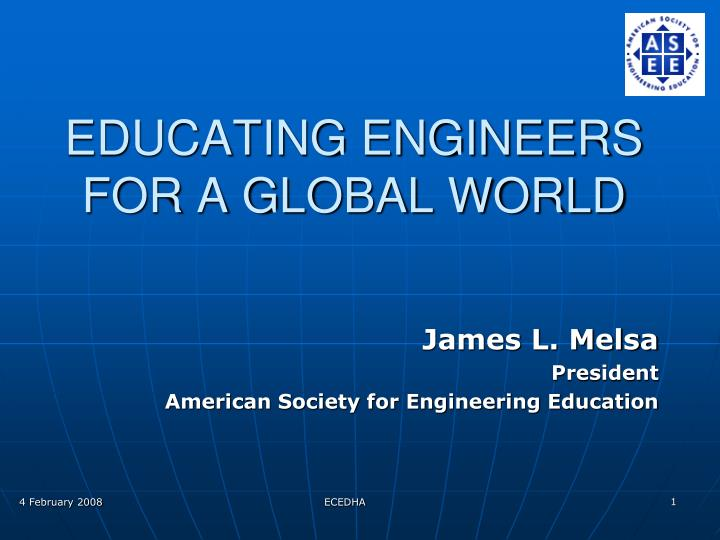 educating engineers for a global world n.