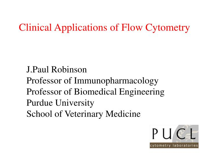 clinical applications of flow cytometry n.