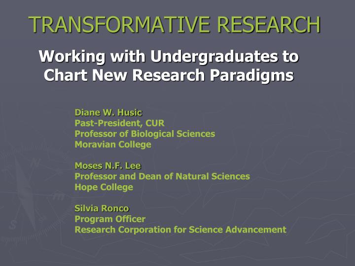 transformative research n.