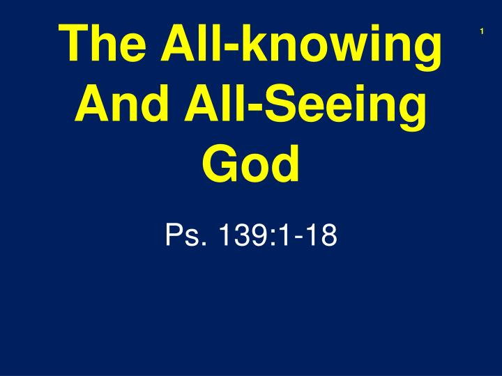 the all knowing and all seeing god n.