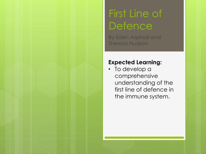 first line of defence n.