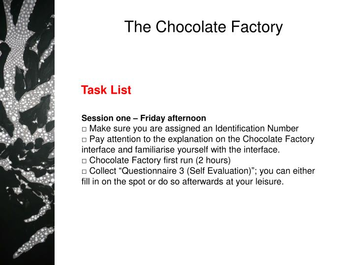 the chocolate factory n.