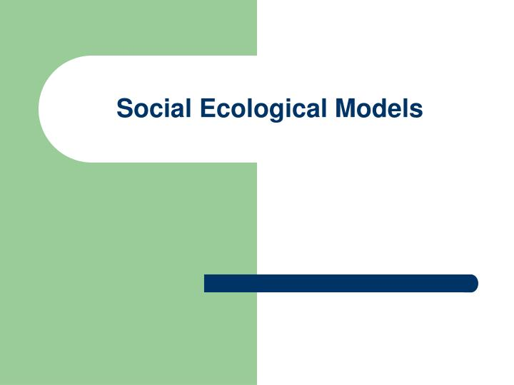 social ecological models n.