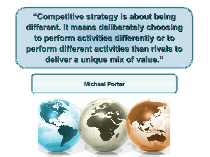 the five generic competitive strategies Understand what distinguishes each of the five generic competitive strategies and the type of competitive advantage each can produce 2 gain command of why each of.