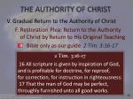 the authority of christ26
