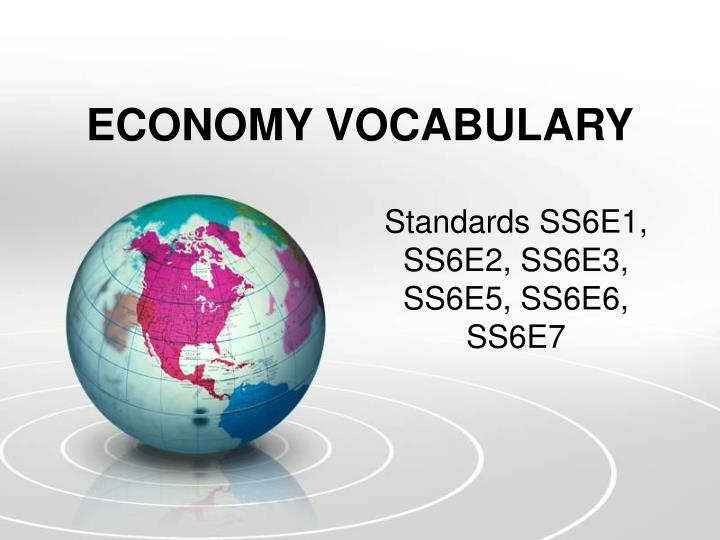 economy vocabulary n.