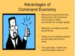 advantages of command economy
