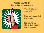 advantages of traditional economy