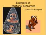 examples of traditional economies