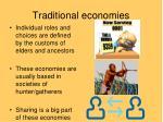 traditional economies1