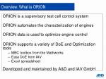overview what is orion