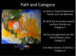 path and category