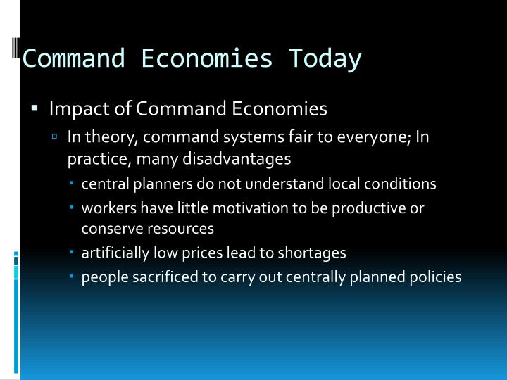 disadvantages of centrally planned economy
