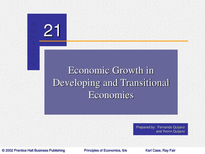 economic growth in developing and transitional economies n.
