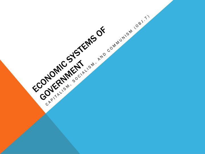 economic systems of government n.