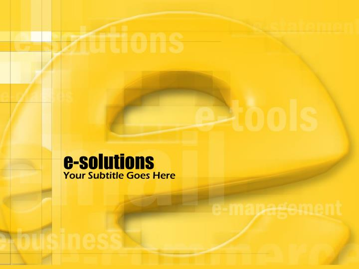 e solutions n.
