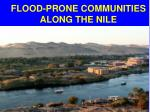 flood prone communities along the nile