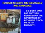 floods in egypt are inevitable and damaging