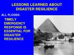 lessons learned about disaster resilience2