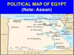 political map of egypt note aswan