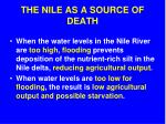 the nile as a source of death