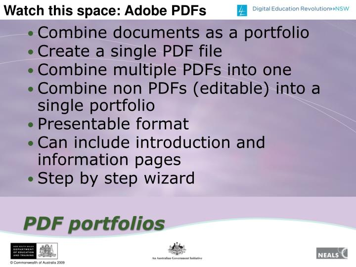 Combine documents as a portfolio