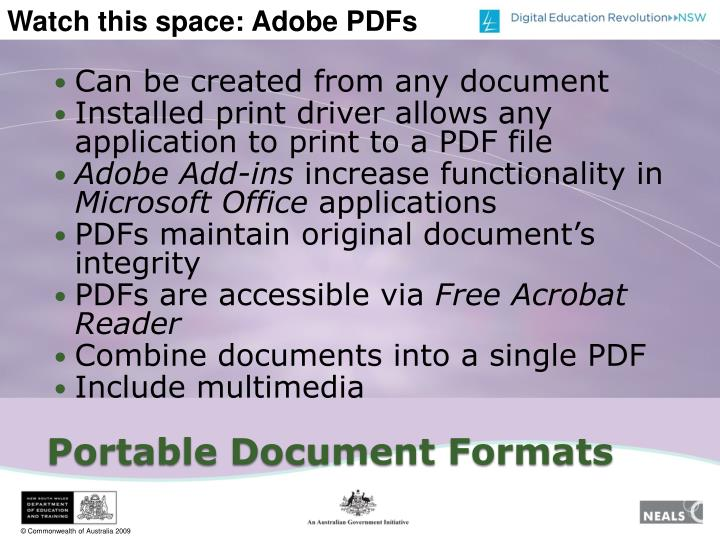 Can be created from any document