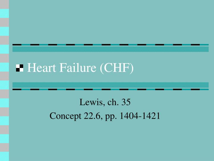 heart failure chf n.