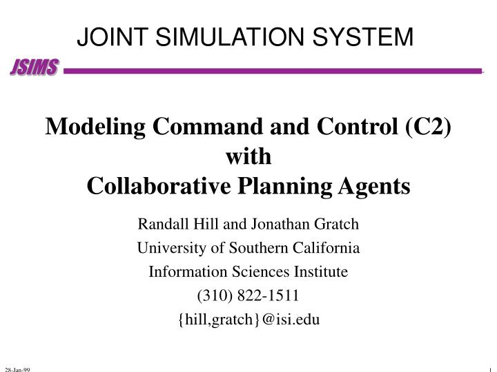 modeling command and control c2 with collaborative planning agents n.
