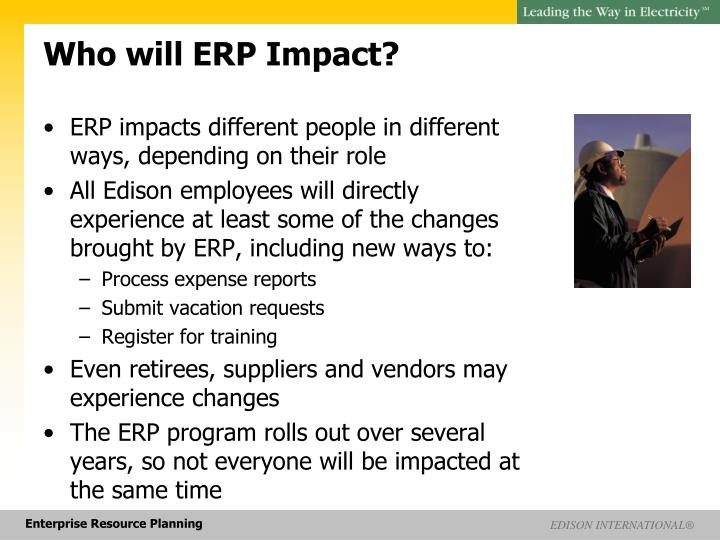 who will erp impact n.