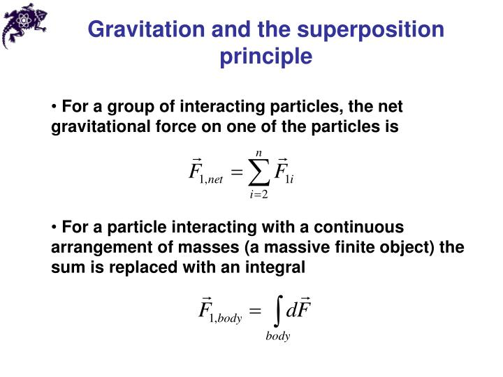 Gravitation and the superposition principle