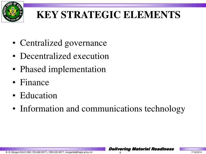 Centralized governance