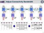adjust connectivity bandwidth