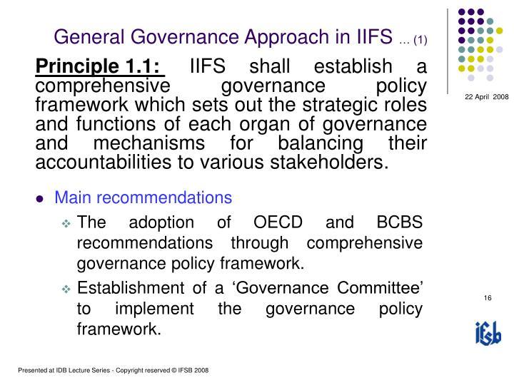 General Governance Approach in IIFS