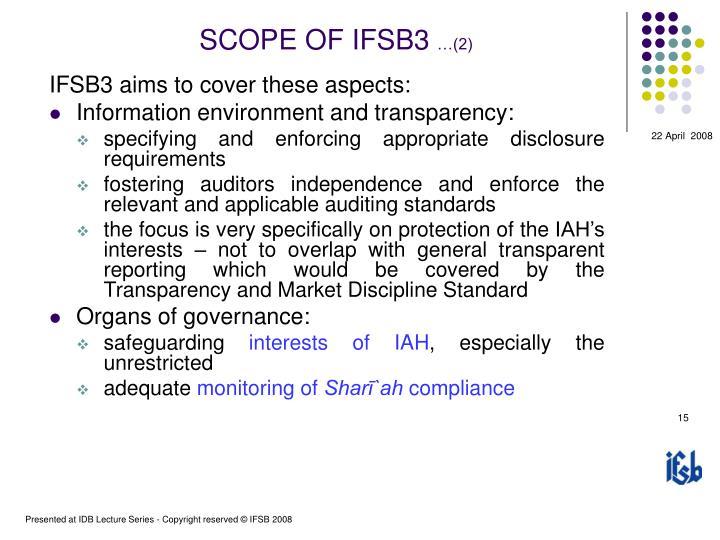 SCOPE OF IFSB3
