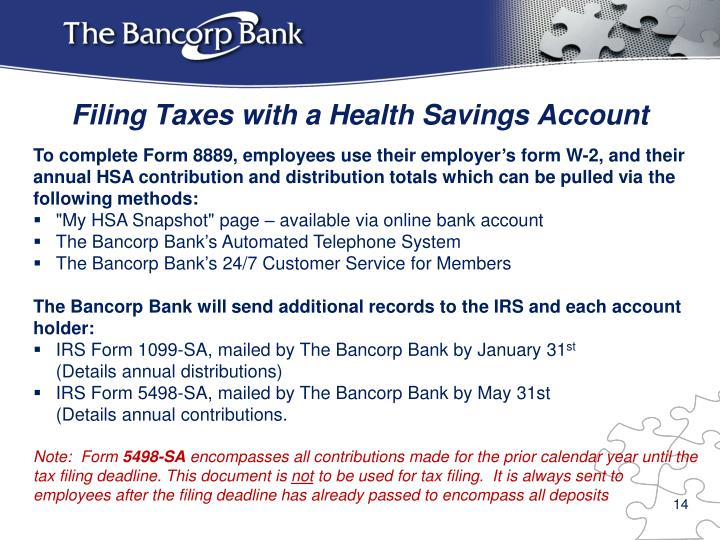 Filing Taxes with a Health Savings Account