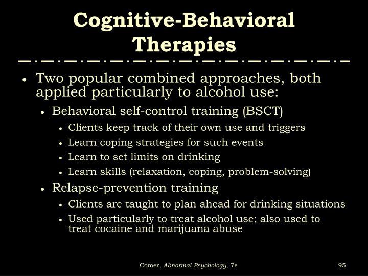 Cognitive-Behavioral Therapies