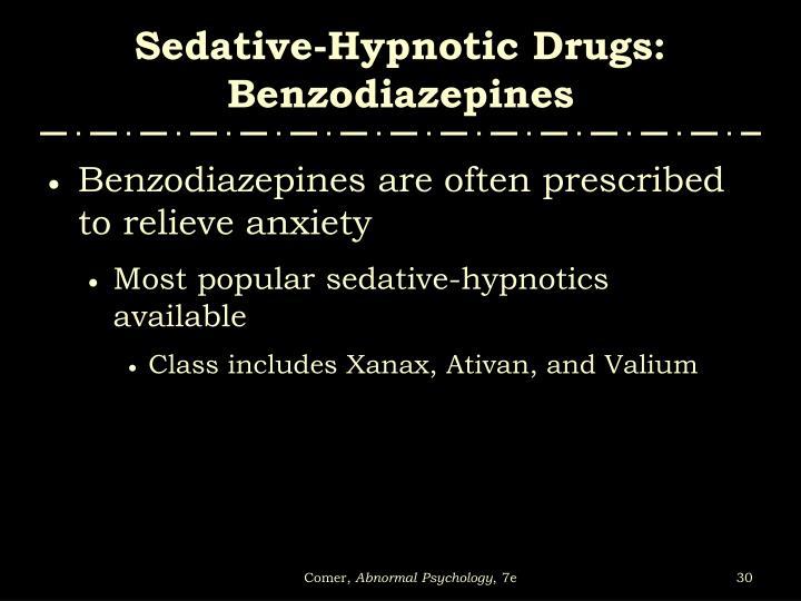 Sedative-Hypnotic Drugs: Benzodiazepines