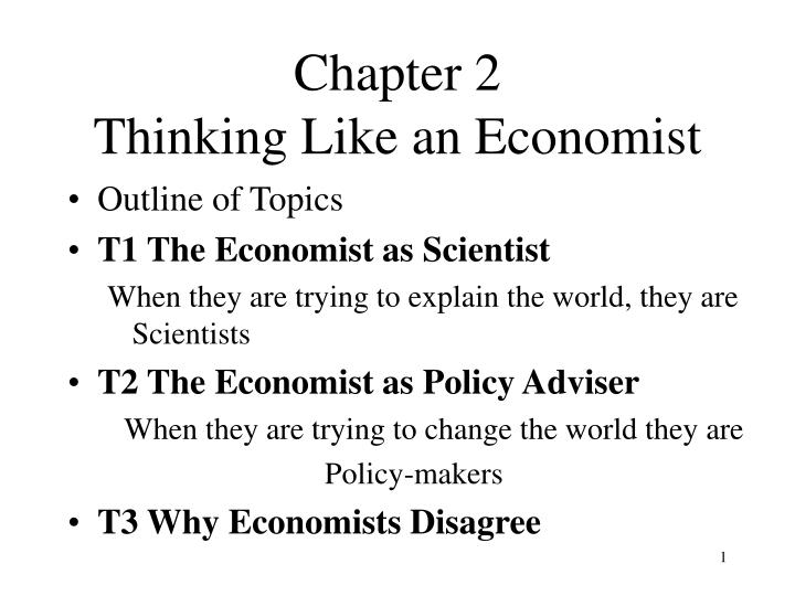 thinking like an economist Opinions expressed by forbes contributors are their why hr managers need to think like economists how would an economist.