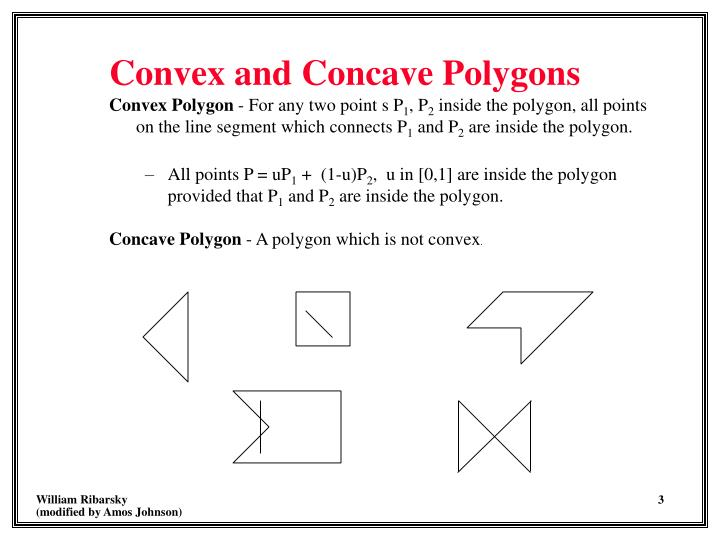 Convex and concave polygons