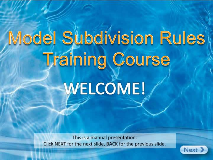 model subdivision rules training course n.